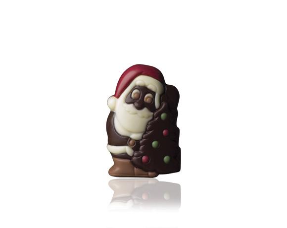 Čokoládová vánoční figurka v mléčné a hořké čokoládě
