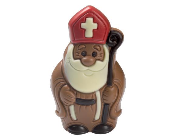čokoládová figurka v mléčné nebo hořké čokoládě