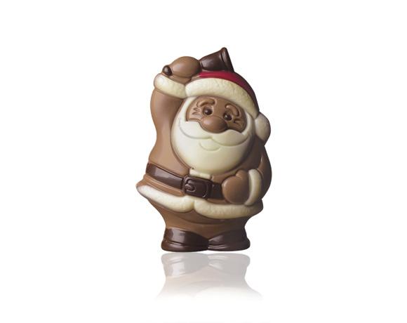čokoládová vánoční figurka samotná nebo doplněná čokoládovými bonbony, existuje v mléčné a hořké variantě.