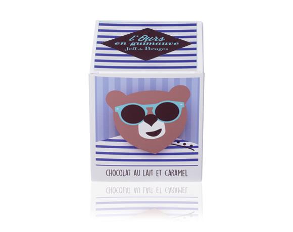 Želatinoví medvědi s karamelovou náplní v lahodné mléčné čokoládě.