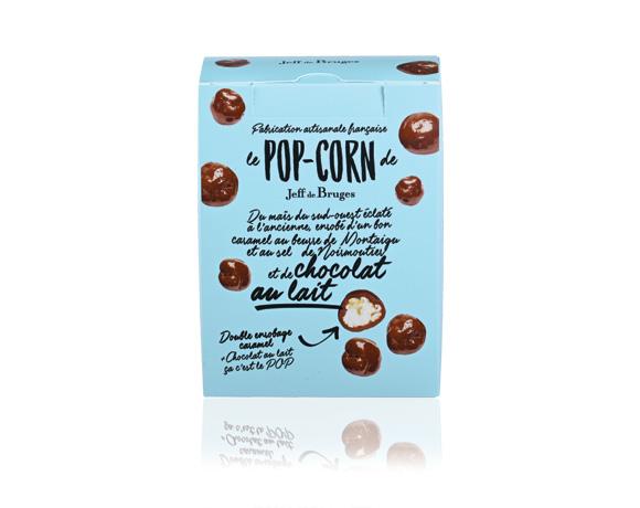 zkaramelizovaný popcorn obalený v mléčné 38 % čokoládě. Návykové !